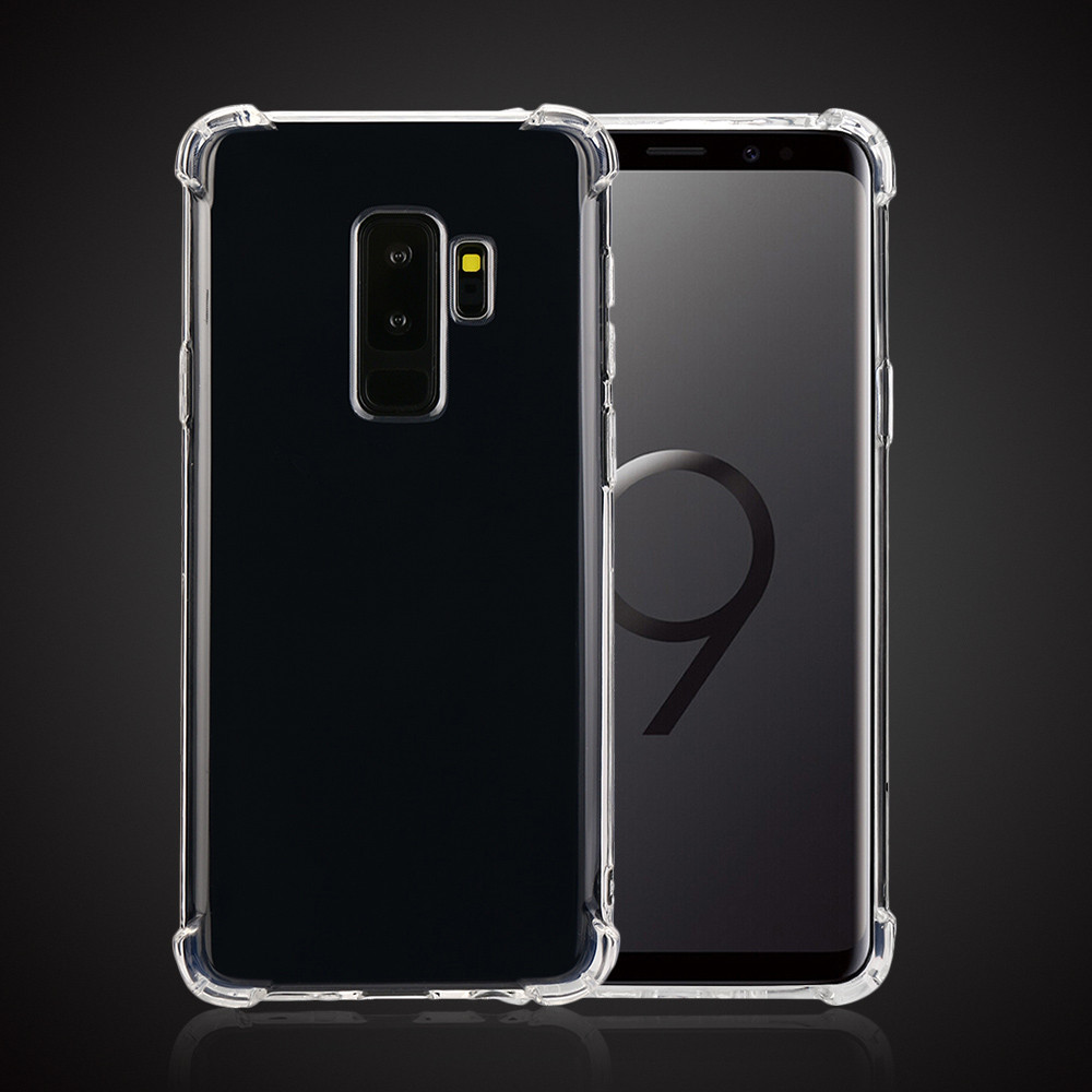 For Samsung Galaxy S9 Plus 6.2Inch Cover Case Airbag Crystal Soft TPU Back Clear Cover Simple Fashion Phone Protective CaseP4