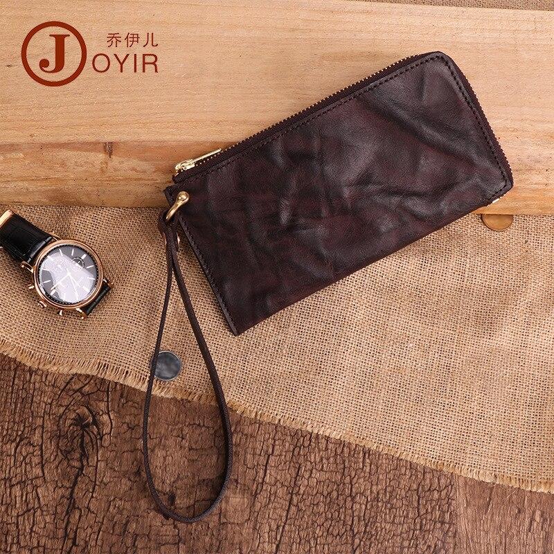 Joyir portefeuille homme en cuir véritable portefeuilles pour porte-carte de crédit pochette portefeuille en cuir véritable porte-monnaie d'affaires
