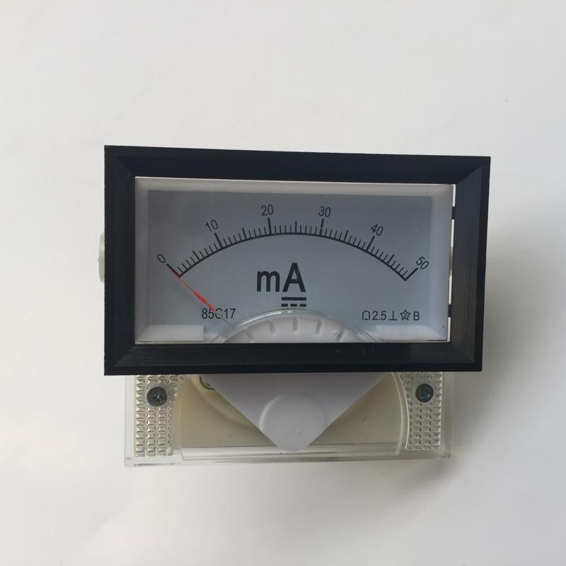 DC Ampere Meter 50mA 85C17 0-50 Milliampere Amp Analog Panel Meter Current Ammeter Co2 Laser Cutting Engraving Machine
