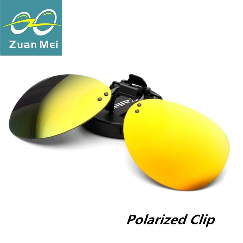 Zuan Mei Brand Polarized Clip On Sunglasses Men Rimless Women Polarized Glasses Clip