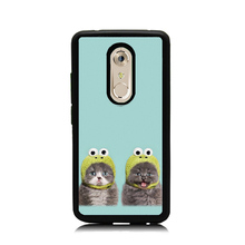 For ZTE AXON 7 Mini Case Cover Luxury TPU+PC Cute Twins Cat Pet Painted Phone Capa Cases For ZTE AXON 7 Shockproof Cases