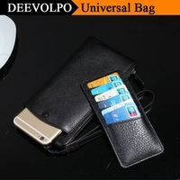 DEEVOLPO 100% Real Genuine Leather Case For iphone X 8 Plus Bags For 3.5 5.7 Universal Mobile Phone Cover Fundas Coque DP89