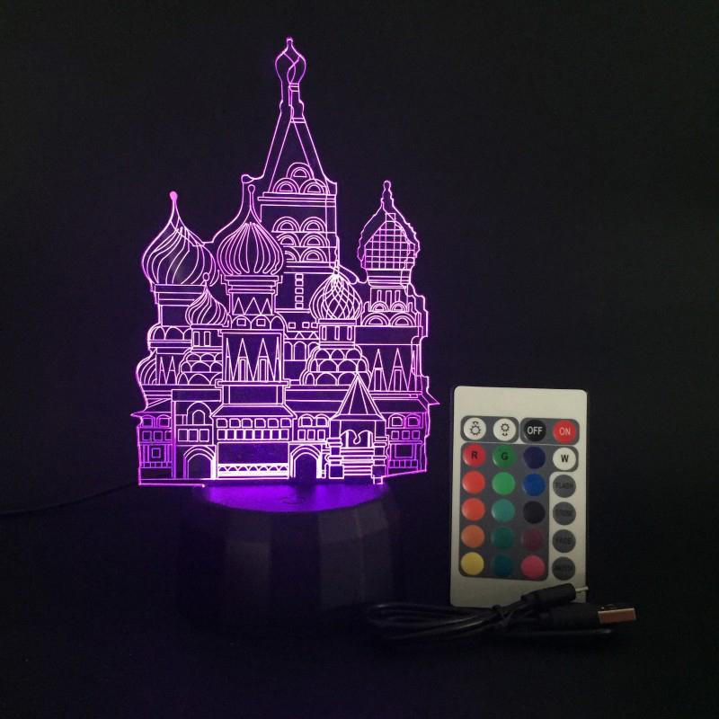 Touch Remote Control 3D Light Base Luminous Night Light Colors Gradient Fixture Replacement Table Lamp Bases