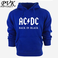 AC DC Band Rock Hoodies Men S Sweatshirt Long Sleeve Cotton Thick Hoody For Men