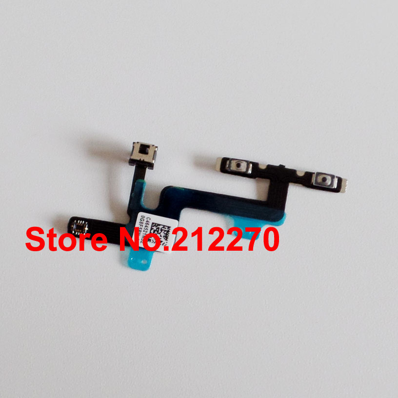 YUYOND 50pcs lot OEM New Volume Button Switch Connector Replacement Part Flex Cable Ribbon For iPhone