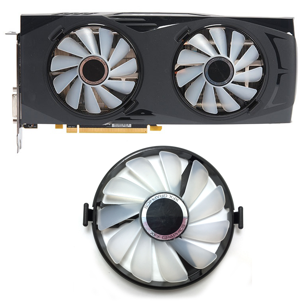 Original FDC10U12S9-C PC Cooler Fan Replace For XFX AMD Radeon RX 470 480 570 4G 580 8G RX460 RX 460 Graphics Card GPU Cooling image