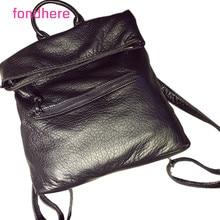 Fondhere 2017 женщин Способа высокого качества кожаные сумки backbag горячий продавать пакет Женщин Черный Рюкзаки