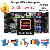 1 Year Best HD IPTV Arabic French UK Europe Italy Code 2500 Channels For Android H96
