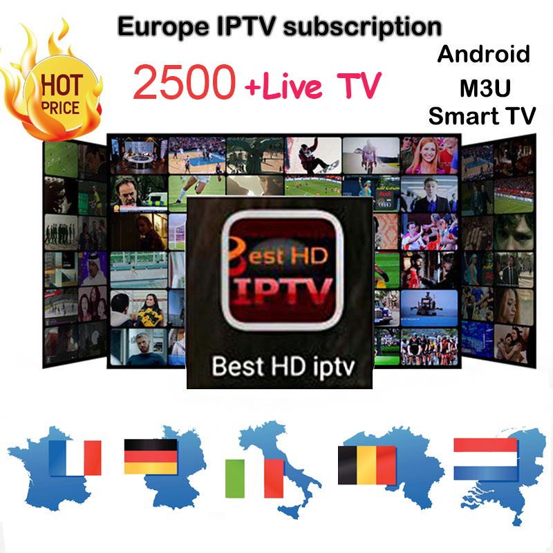 1 Year Best HD IPTV Arabic French UK Europe Italy code 2500+ Channels for Android H96 PRO TV Box/M3U/MAG 250/IPS2 Plus box iptv evpad pro