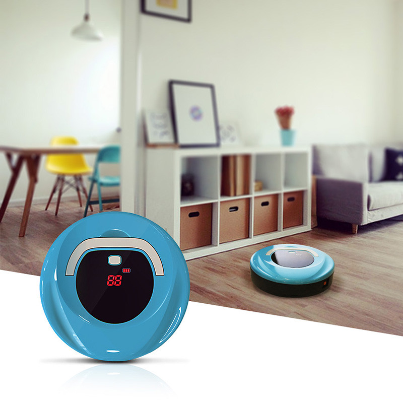 2018 Mini Automatic Industrial Vacuum Cleaner Robot Smart Sweeping Mopping Wet And Dry Ilife Aspiradora Robot With LED Display philips brl130 satinshave advanced wet and dry electric shaver