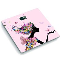 070456 New Design Butterfly Night Vision Backlit Display Health Scale With Temperature Electronic Weighing Scales
