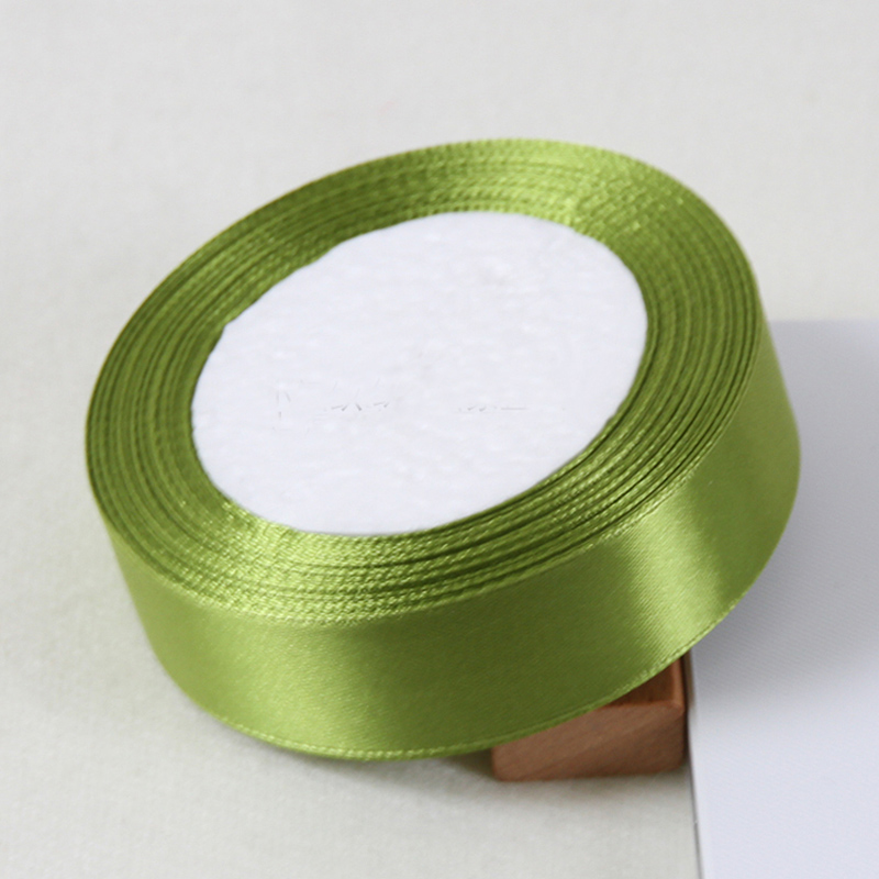 25yards/Roll 2.5Cm Polyester Ribbon Chrismas Decor Wedding Supplies Cake Gift Wrap Package Satin Fabric Ribbons DIY Accessories