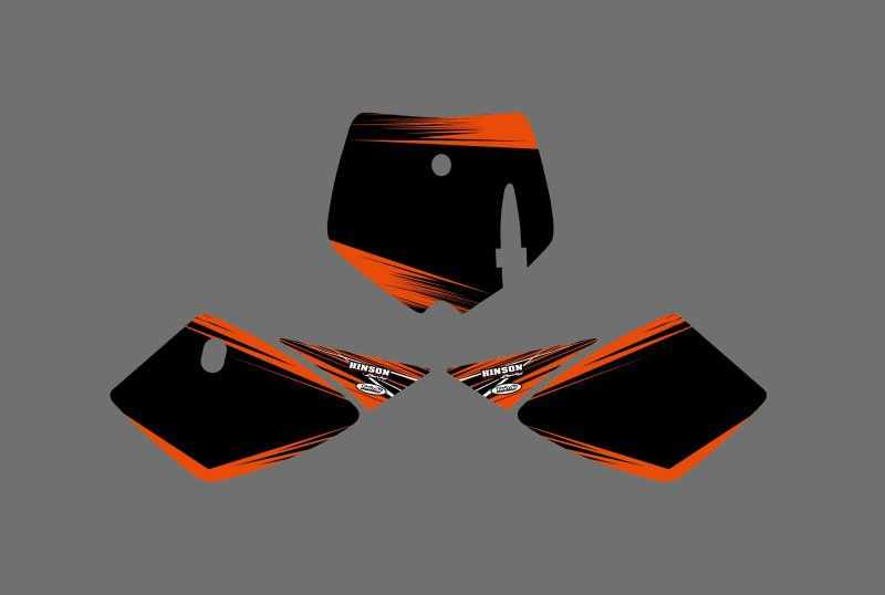0539 (negro y Orange) nuevos gráficos calcomanías para KTM 50 SX 2002, 2003, 2004, 2005, 2006, 2007, 2008