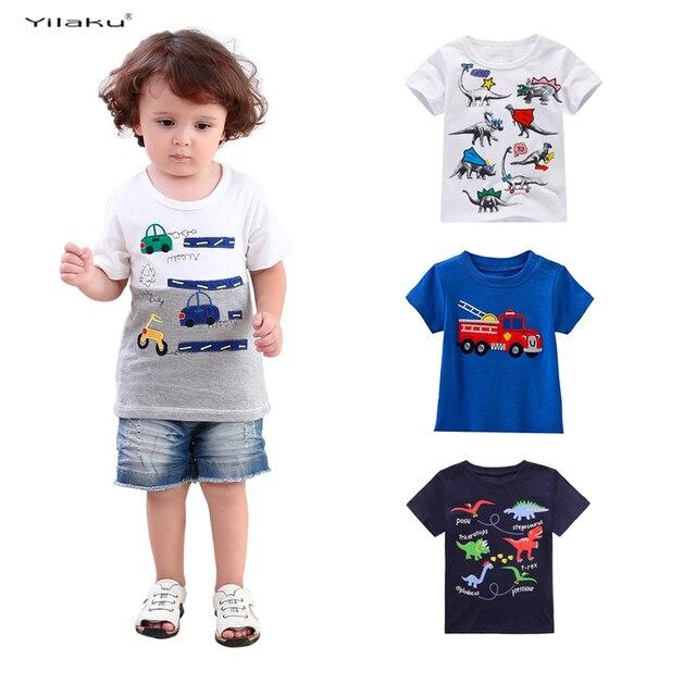 Niños T Camisa 2017 De Moda Dinosaurio De Dibujos Animados Ropa Para
