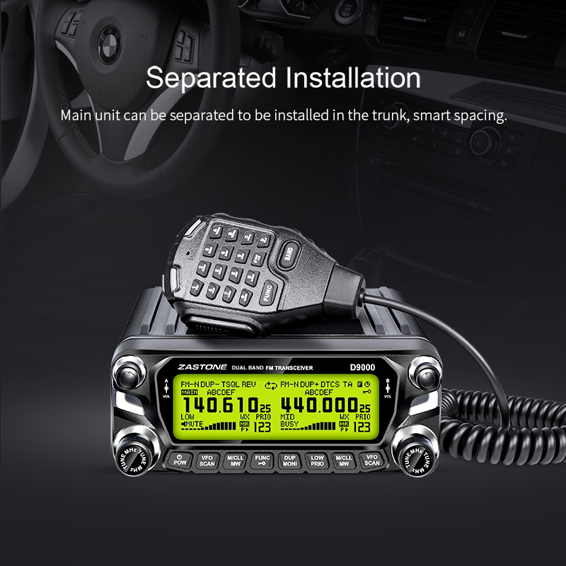 Zastone D9000 50W walkie talkie för bil HF Transceiver Two Way Radio