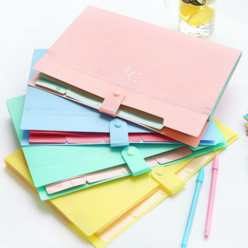 New 10 Color A4 File Document Bag Waterproof Carpeta File Folder 5 Layers Archivadores Anillas Document Bag Office Stationery 6
