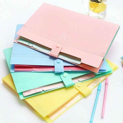 Nowy 10 kolor A4 torba na dokumenty wodoodporny Carpeta folder 5 warstw Archivadores Anillas aktówka materiały biurowe