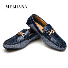 Купить с кэшбэком MEIJIANA 2018 Genuine Leather Driving Male Loafers Shoes For Men Brand Casual Boat Men Shoes