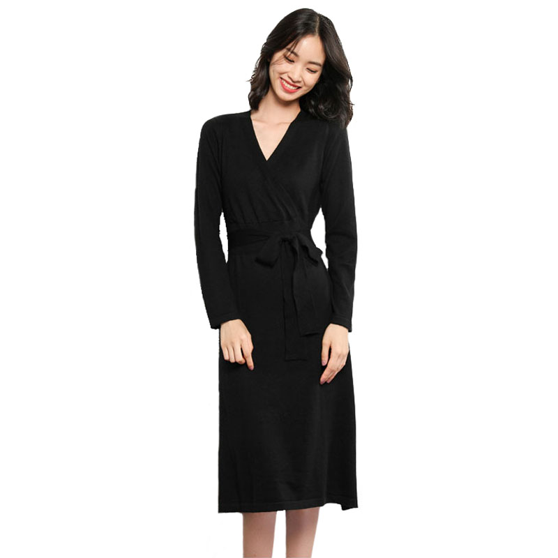 Mouse over to zoom in. Cashmere Knitted A Line Sweater Dress Women s Wool  ... 2063bd278418