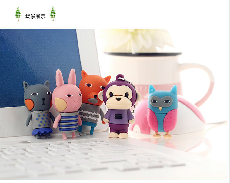 lovely cartoon usb pendrive frozen 4GB-64GB Flash Drive thumb pen drive u disk memory stick souvenir bear owl rabbitusb stick