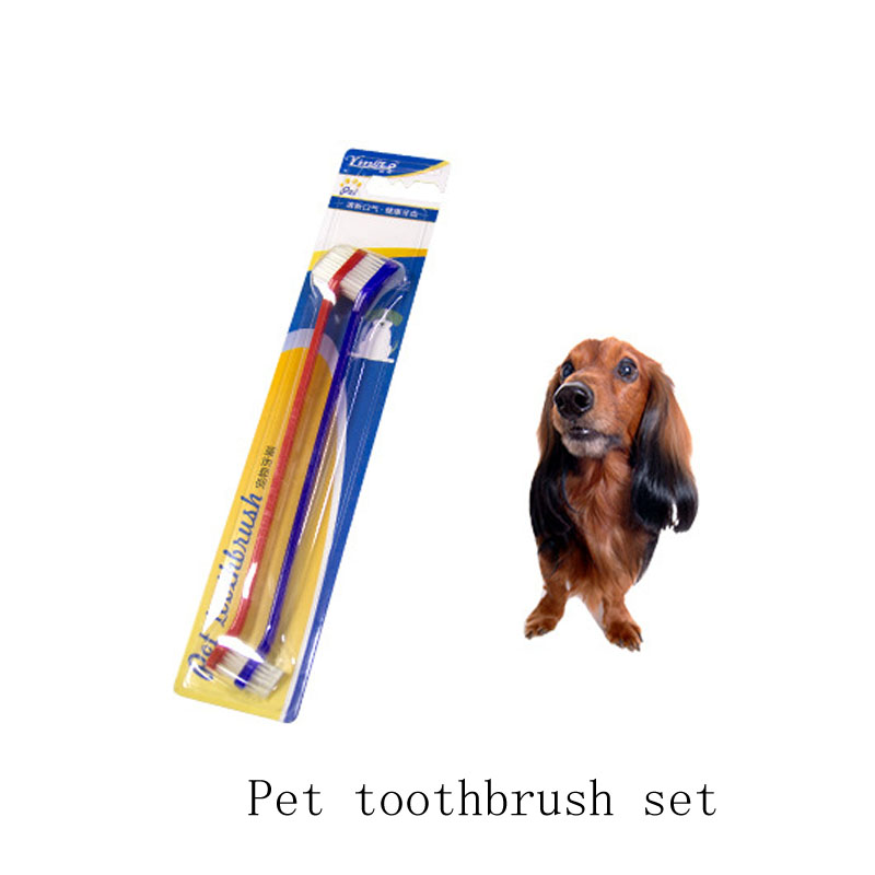 2pcs Pet toothbrush set portable soft bristle toothbrush Eco Friendly brush oral cleaning care tools for dog cat image