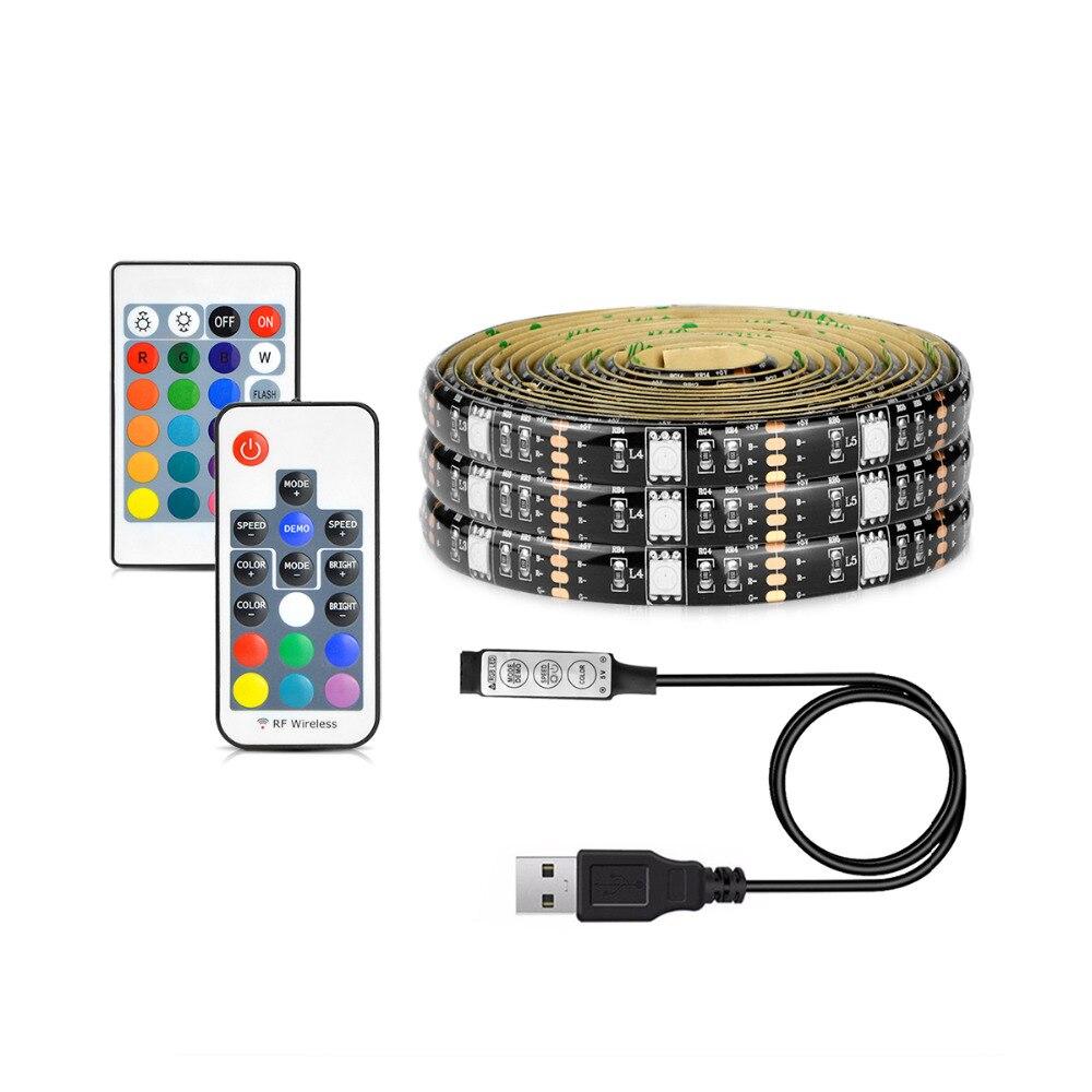 5050 waterproof 5v usb port power led rgb strip light flexible led string tape for tv desktop. Black Bedroom Furniture Sets. Home Design Ideas