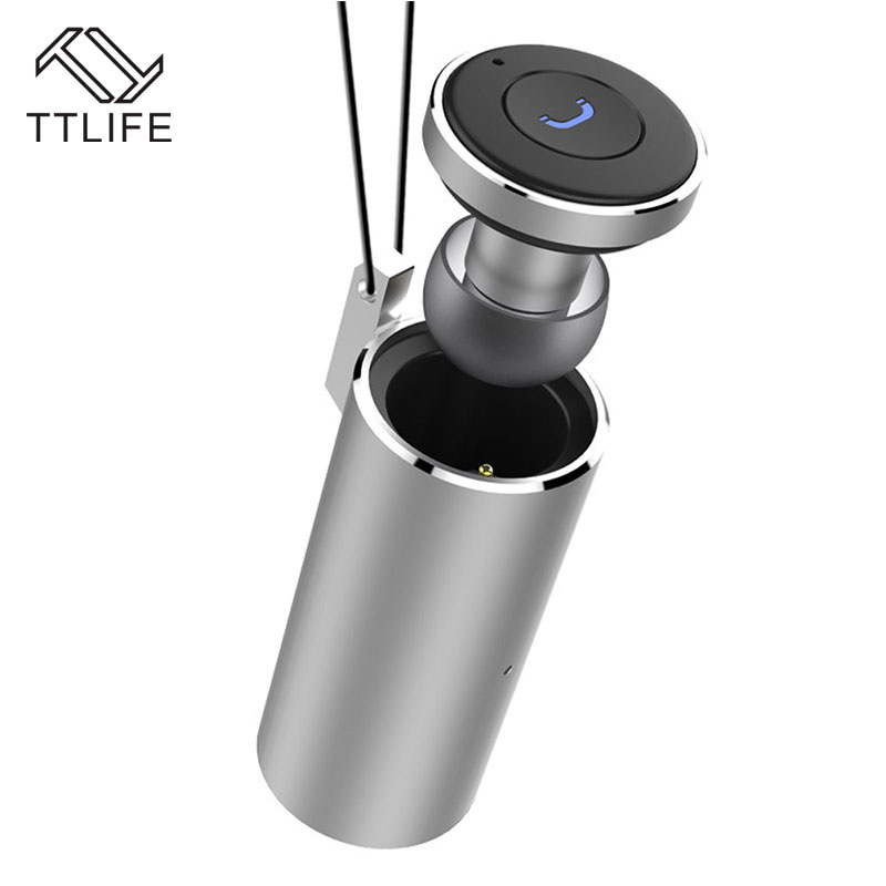 TTLIFE Bluetooth 4.2 Earphone Mini Wireless Car Driver Stereo Music Headphone with Charging Base Necklace Style Phones earbud