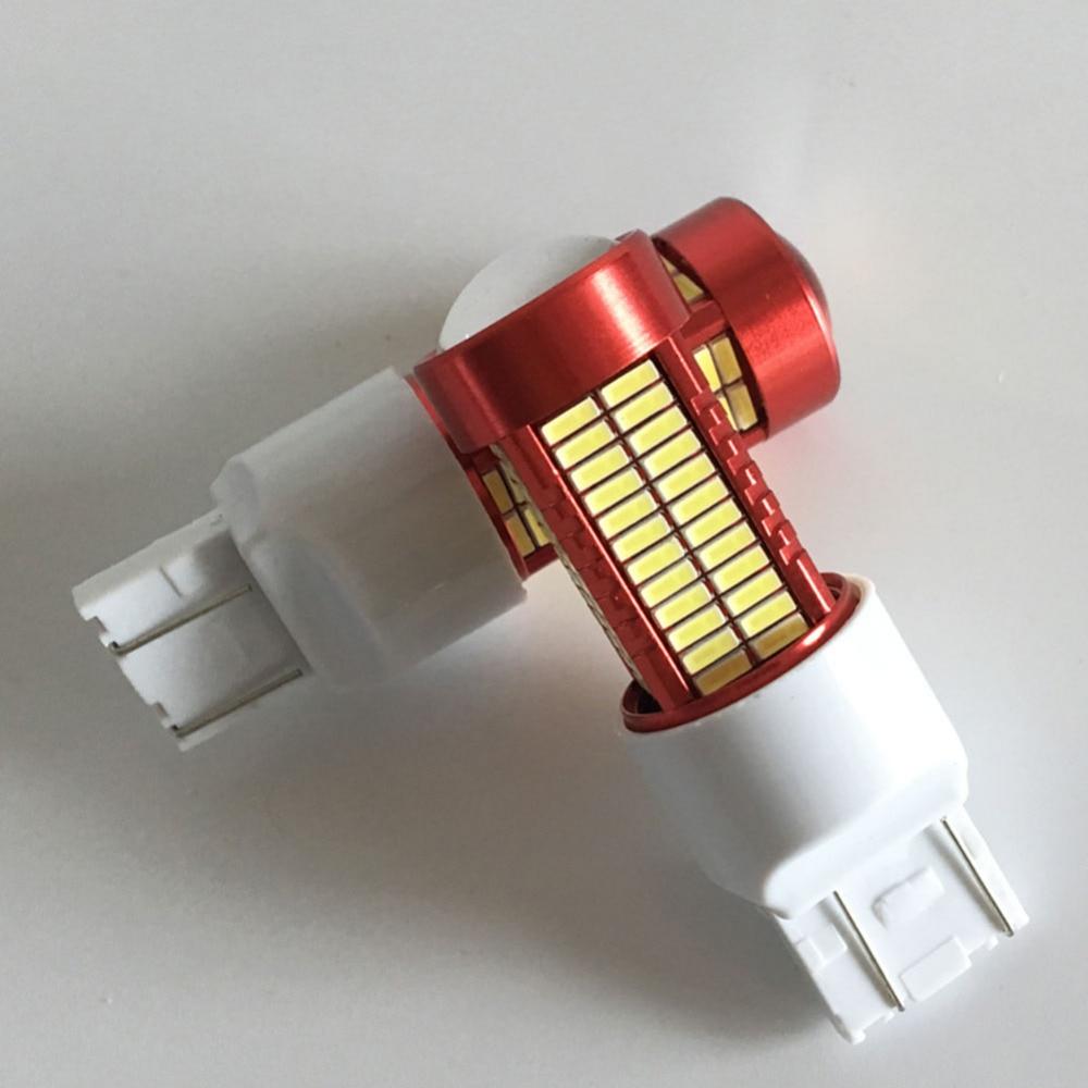 2PCS Led Light 50W 6500K 7443 W16W T20 106SMD 4014 - Автомобилни светлини - Снимка 5