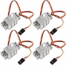 4 шт. программируемые сервоприводы серого цвета на 270 градусов для LEGO для micro: бит Robotbit Smart Car Makecode для обучения детей MB0002