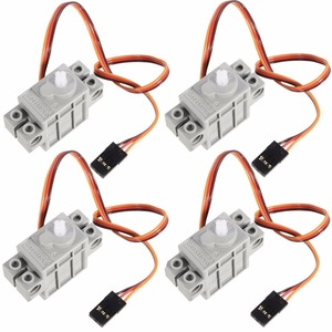 Image 1 - 4Pcs 270 Degree Programmable Gray Geek Servo Servos for LEGO for micro:bit Robotbit Smart Car Makecode for Kids Education MB0002