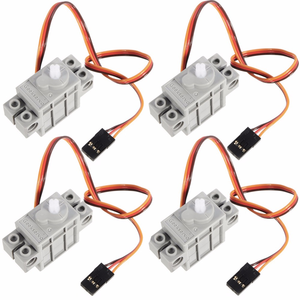 4Pcs 270 Degree Programmable Gray Geek Servo Servos For Micro:bit Robotbit For LEGO Smart Car Makecode For Kids Education MB0002