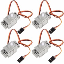 4Pcs 270 องศาโปรแกรมสีเทา Geek Servo เซอร์โวสำหรับเลโก้ Micro: บิต Robotbit สมาร์ทรถ Makecode สำหรับเด็กการศึกษา MB0002