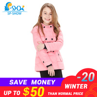2018 Spring fall winter Brand Warm Kids Down Coats Girl Parkas For Children Girls Winter Coats For 3 10 Age Jackets& Parkas 2122
