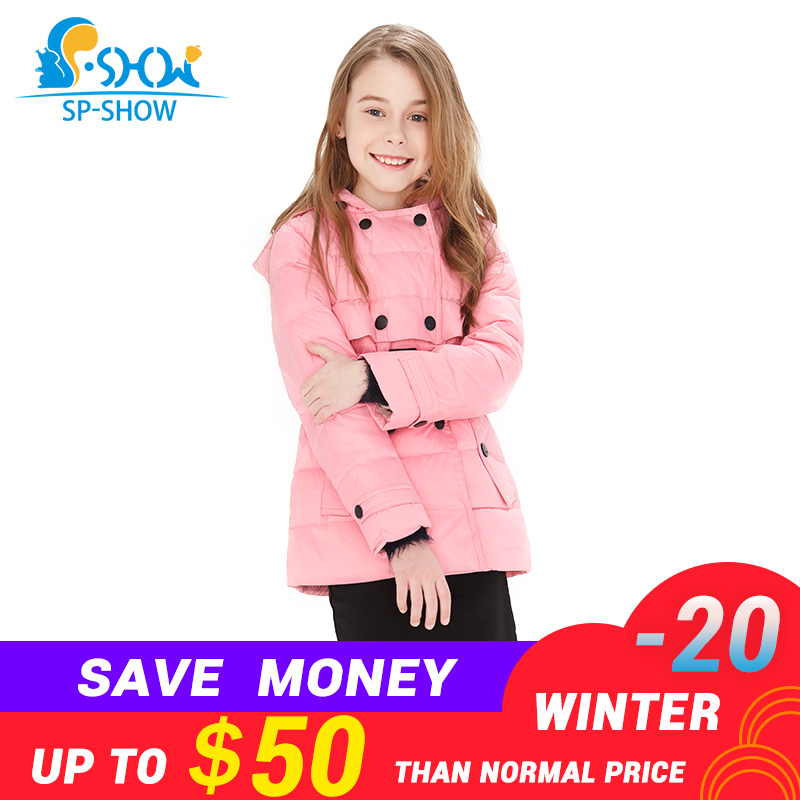 2018 Spring fall winter Brand Warm Kids Down Coats Girl Parkas For Children Girls Winter Coats For 3-10 Age Jackets& Parkas 2122 цена 2017