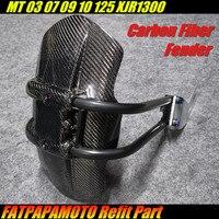 Для YAMAHA MT03 MT07 MT09 MT10 MT125 XJR1300 т Аксессуары для мотоциклов 100% углеродного волокна задний брызговик