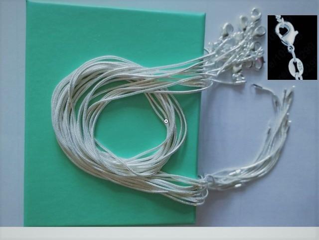 10 pz/lotto Promozione! commercio all'ingrosso 925 Collana D'argento, argento Ca