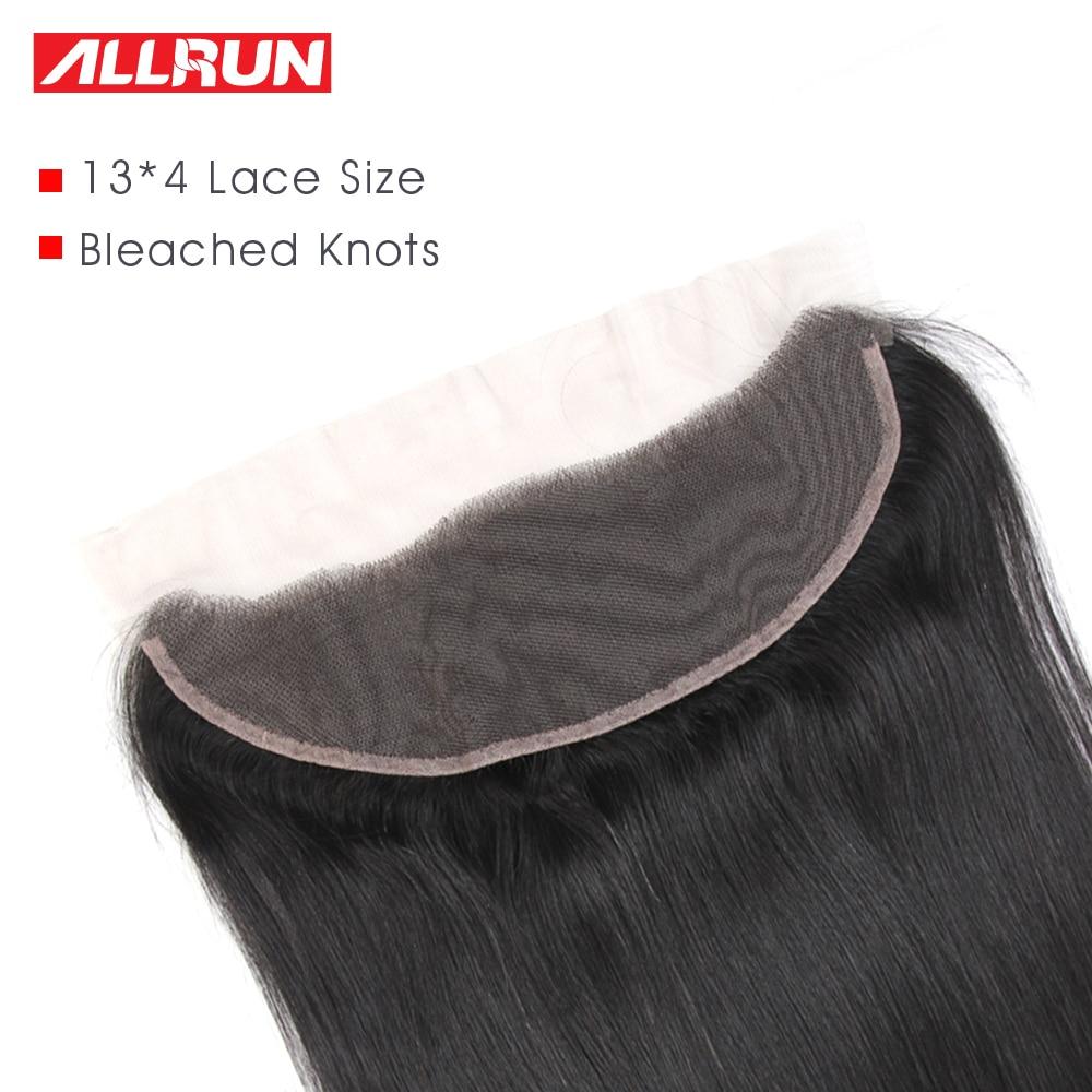 Allrun 13 * 4 귀에 귀에 레이스 정면 브라질 - 인간의 머리카락 (검은 색) - 사진 4