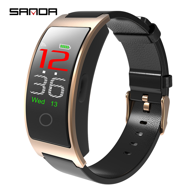SANDA Bluetooth Smart Watch GPS Fitness Tracker Men SmartWatch Waterproof Sport Watch Men Heart Rate Monitor Watches Ios Android colmi v11 smart watch ip67 waterproof tempered glass activity fitness tracker heart rate monitor brim men women smartwatch