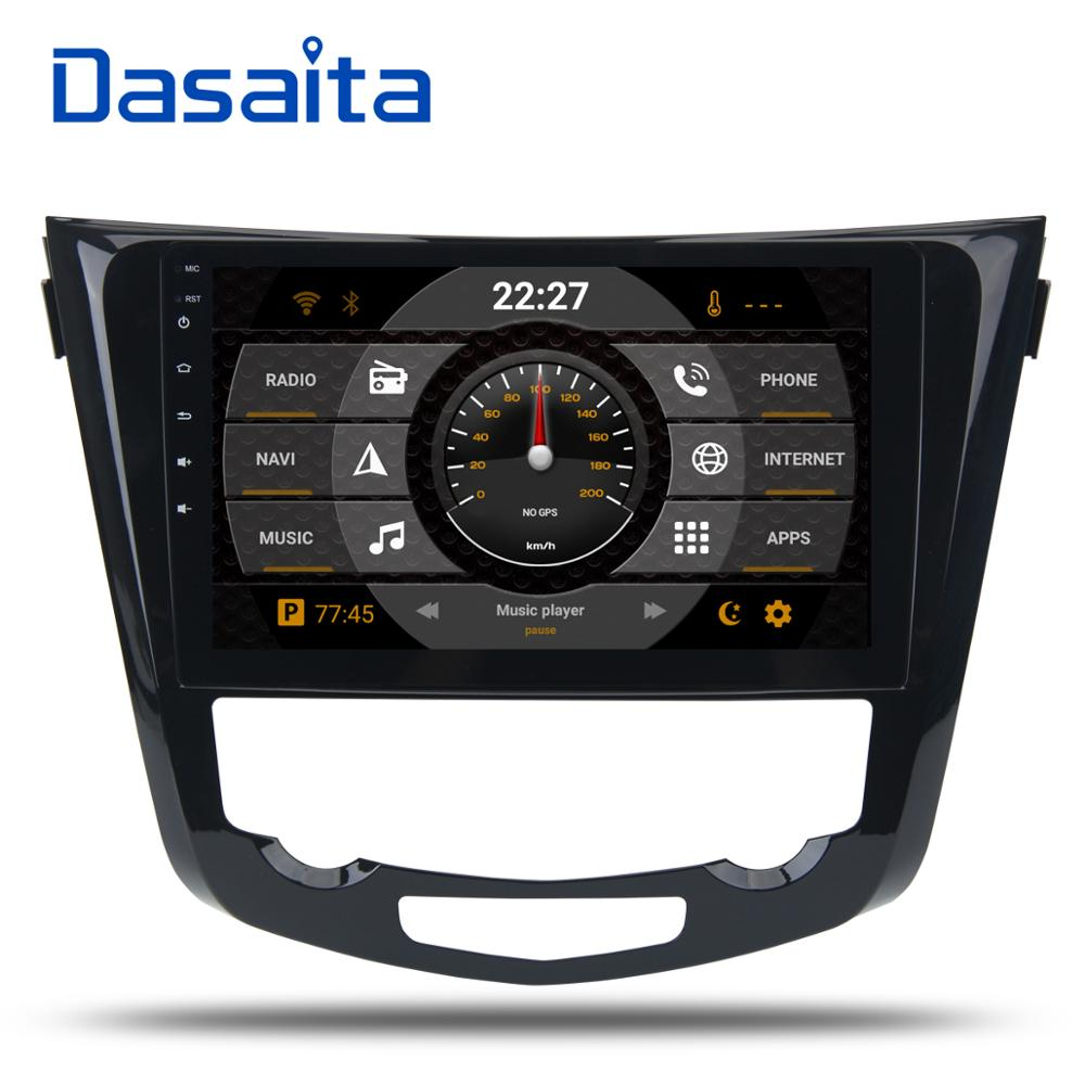 Dasaita 10,2 Android 8,0 автомобиль gps радио для Nissan X-Trail Qashqail 2014-2017 с Octa core 4 ГБ + 32 ГБ стерео Мультимедиа