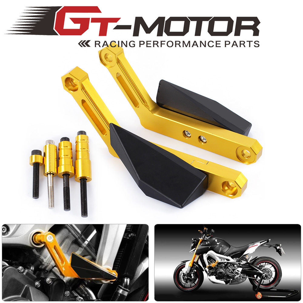 GT Motor-Motorcycle Frame Sliders Crash Falling Protection Anti Crash Protectors For YAMAHA MT-09 MT09 14-15 TRACER FZ09 FJ09 motorcycle frame sliders crash falling protection anti crash protectors for mt09 fz09 mt 09 fz 09 fz mt 09 2013 2014 2015 2016