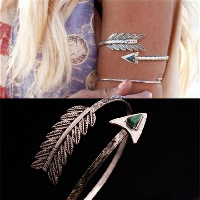Bohemian Ethnic Pulseira No Braço Do Vintage Seta Abrir Bangle Bracelete Braçadeira Pulseira Personalidade Z-197