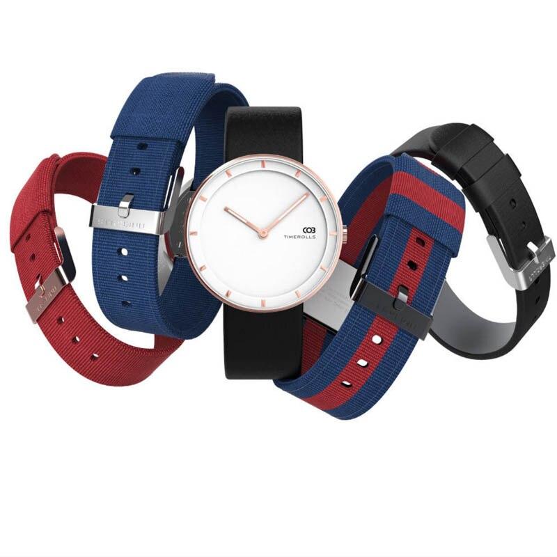 Xiaomi Mijiia TIMEROLLS COB Quartz Wrist Watch Luminous Pointer Stainless Steel Water Resistant Watches Men Women Luxury Watches-in Smart Wristbands from Consumer Electronics    3