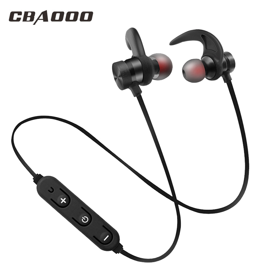CBAOOO C40W Bluetooth headphone wireless bluetooth headphones Sports headset Magnetic earphone with microphone for phone xiaomi 3pin microphone cable connector female male mic jack plug audio microphone connector xlr adapter black