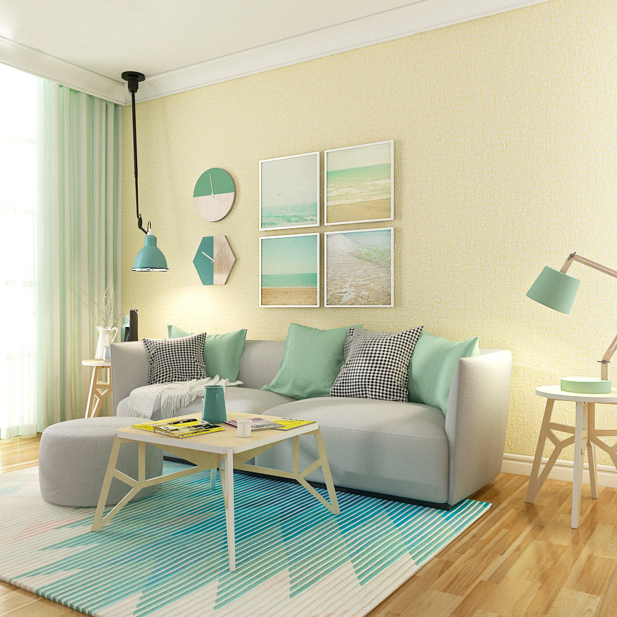 Modern Pure Color Nonwoven Wallpaper Room Bedroom White Beige Coffee Background Wall Paper Roll mediterranean style sky blue wallpaper modern pure color wall paper roll for bed room livingroom