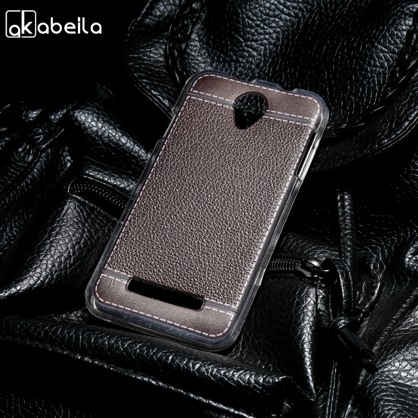 AKABEILA Silicone Phone Cover Case For Fly IQ4415 quad Era Style 3 IQ 4415 4.5 inch Case TPU Lichee Cover Fundas Bag