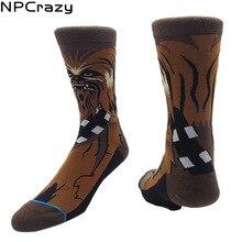 Chewbacca CHEWIE Star Wars Socks Men High Quality Cotton Happy Socks Famous Movie Cartoon Socks Skateboard Hemp Sock