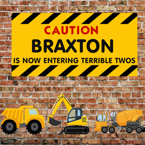 Image 2 - Sensfun Background For Birthday Photography Construction Party Banner Decor Brick Wall Backdrop Dump Truck Boy Photo Studio Prop