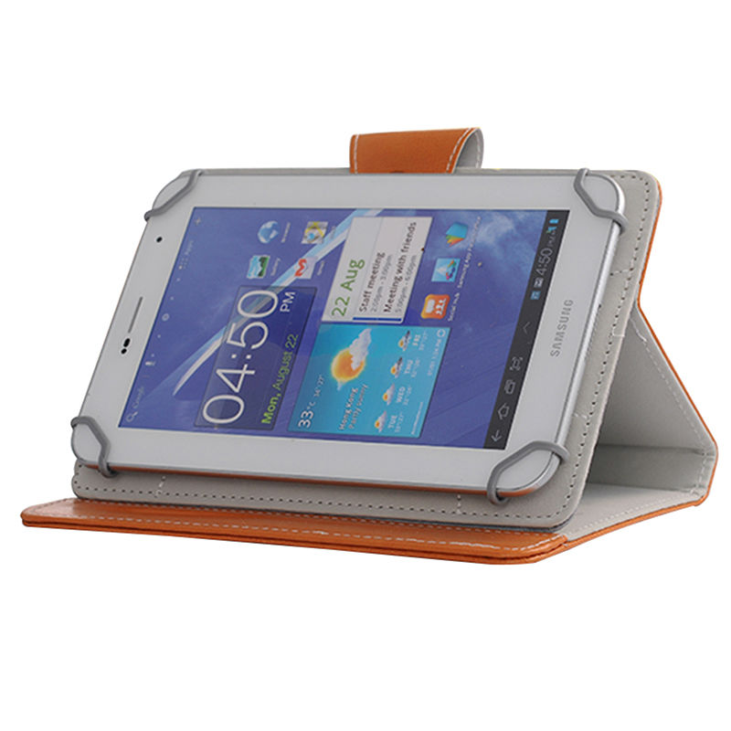 Fashion Flip PU Leather For Samsung Galaxy Tab 4 7.0 Case For Irbis TX76 Universal Tablet Case Cover+Film