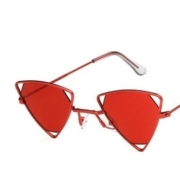 Yoovos 2019 New Punk Sunglasses Women Triangle Oculos New Vintage Glasses Openwork Metal Frame Fashion Sun Glasses Men Okulary 9