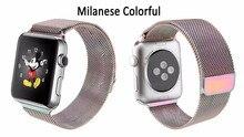 Loop band milanese y del acoplamiento pulsera de plata correa de acero inoxidable para apple watch 42mm 38mm correa de reloj